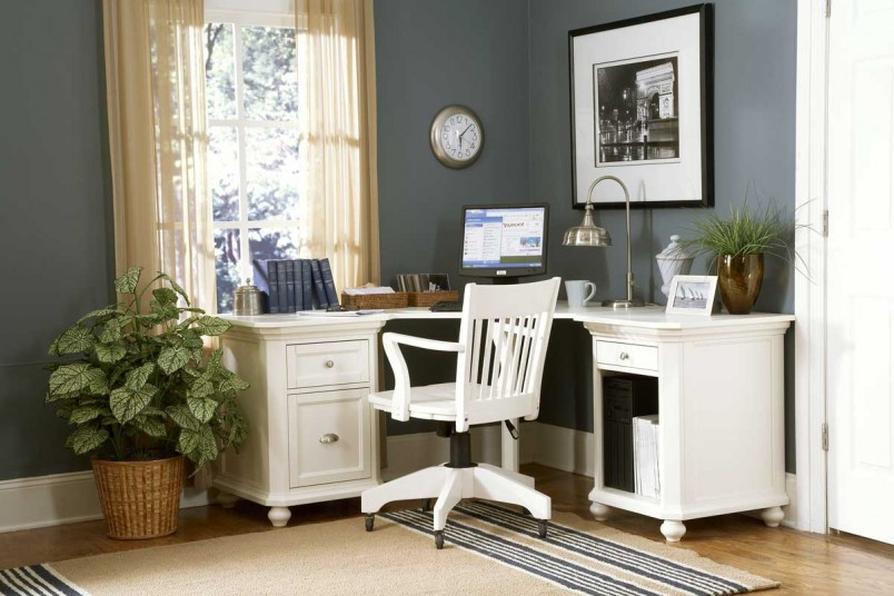 outstanding bedroom office designs tips for decorating with soft | office-and-workspace-pleasant-home-office-interior-design ...